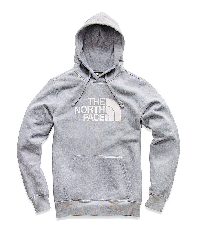 The North Face Men's Half Dome Pullover Hoodie (Dark Grey Heather | White)