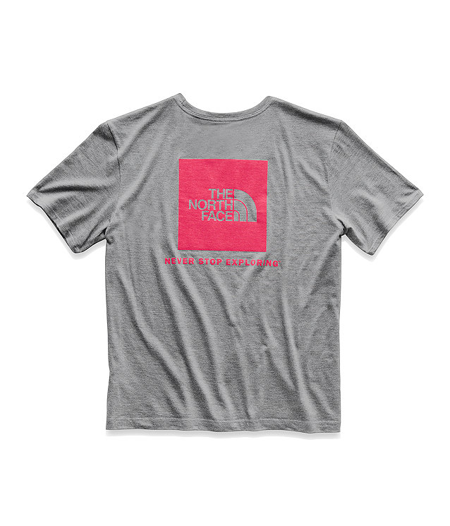 WOMEN'S TRI-BLEND RED BOX BOYFRIEND TEE