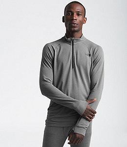 b0a328d7e Men's Warm Wool Blend Long-Sleeve Zip Neck