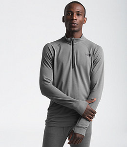 0c8622f31 Men's Warm Wool Blend Long-Sleeve Zip Neck