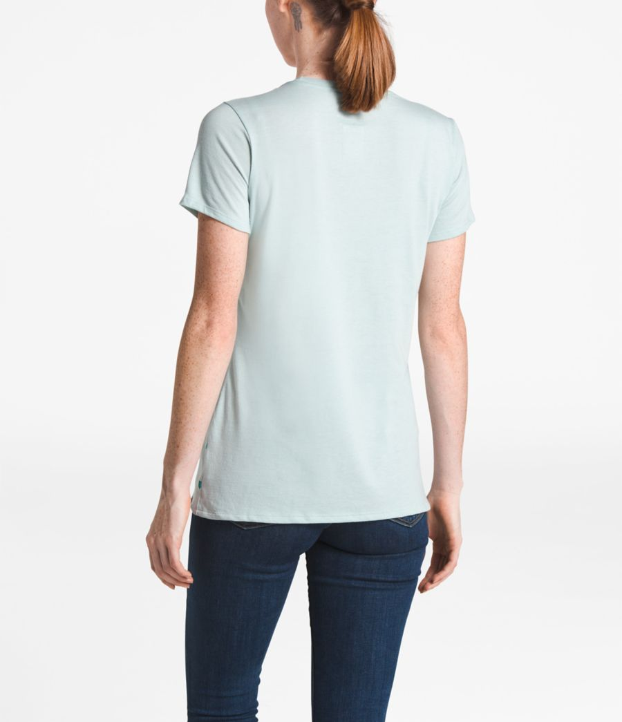 WOMEN'S SHORT-SLEEVE OMBRE TRI-BLEND CREW TEE-