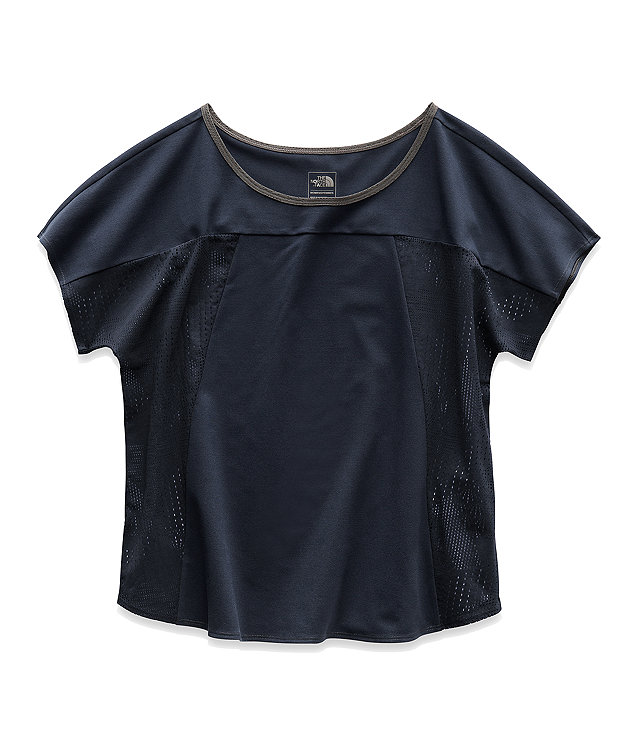 WOMEN'S MESH AROUND SHORT-SLEEVE TEE