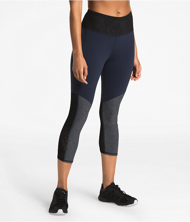 WOMEN'S MESH AROUND HIGH-RISE CROPS