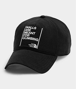 10447f752 WALLS ARE MEANT FOR CLIMBING BALL CAP