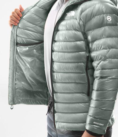 Manteau à capuchon Summit L3 en duvet pour hommes-