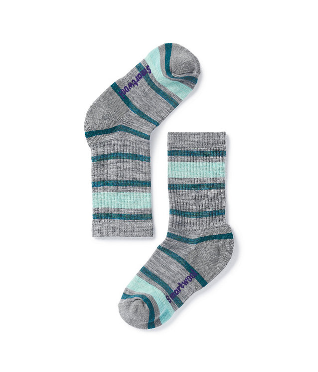 Kids' Smartwool Striped Hike Light Crew