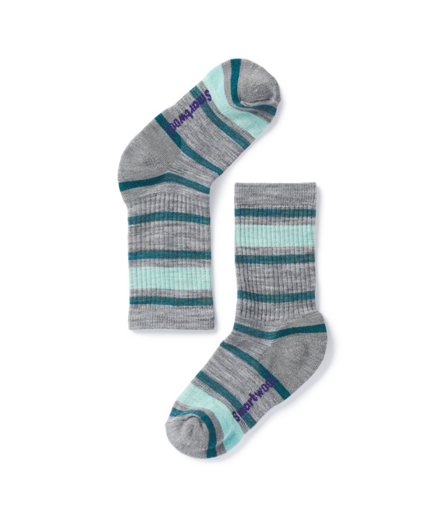Kids' Smartwool Striped Hike Light Crew-