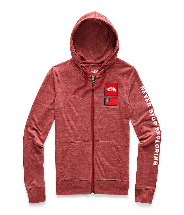 Women's Americana Tri-Blend Full Zip Hoodie