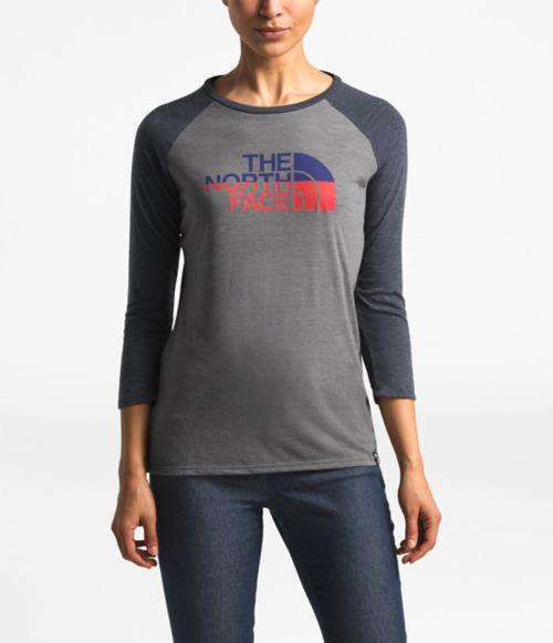 Women's ¾ Americana Tri-Blend Baseball Tee-