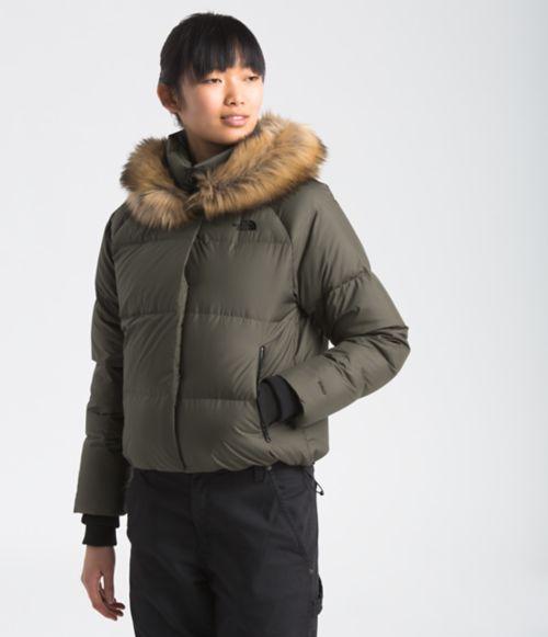 Manteau court Dealio en duvet pour femmes-