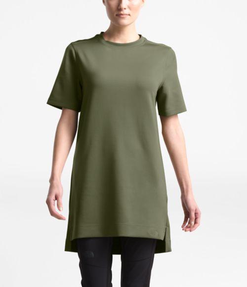 Women's Short-Sleeve Sleek Knit Tunic-