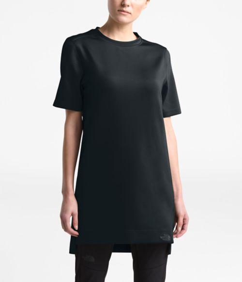 Tunique à manches courtes Sleek en tricot pour femmes-
