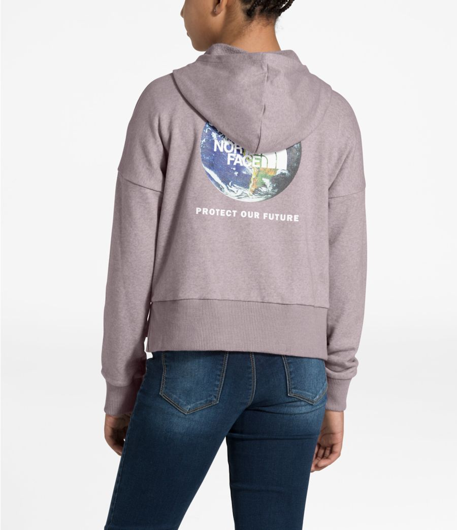 Girls' Recycled Materials Pullover Hoodie-