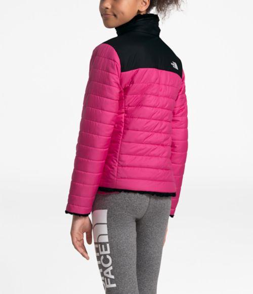 Manteau réversible Mossbud Swirl pour filles-