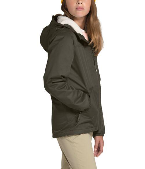 Girls' Warm Storm Rain Jacket-