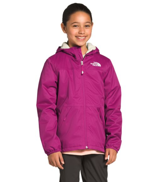 Girls' Warm Storm Rain Jacket-