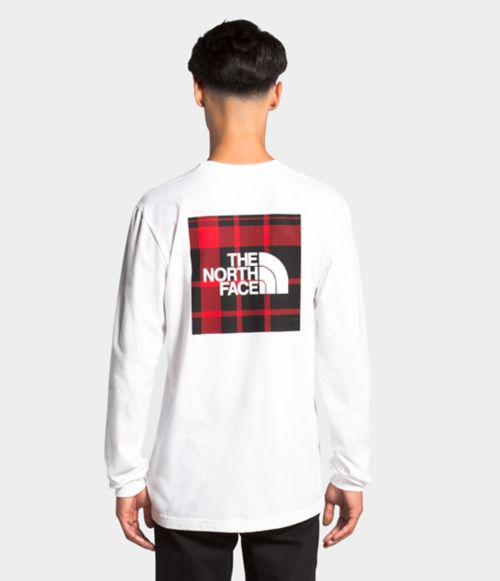Long Sleeve Holiday Red Box Tee   The North Face
