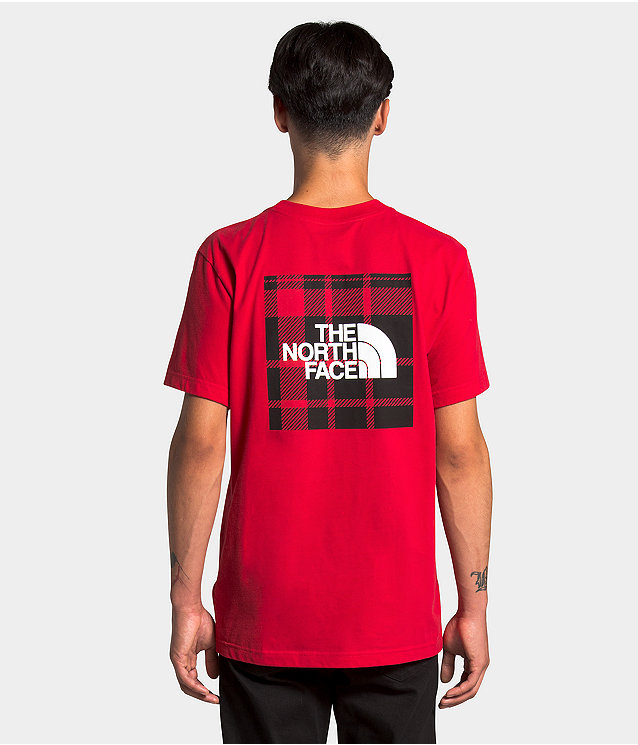 Men's Short Sleeve Holiday Red Box Tee