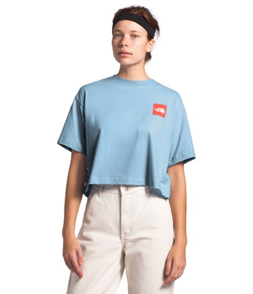 Women's Short Sleeve Cropped Cotton Tee-