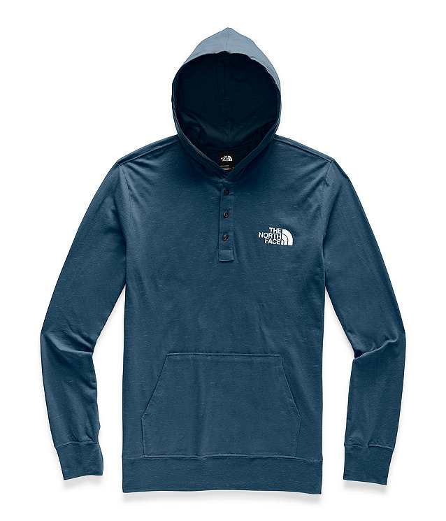 Men's Henley New Injected Pullover Hoodie