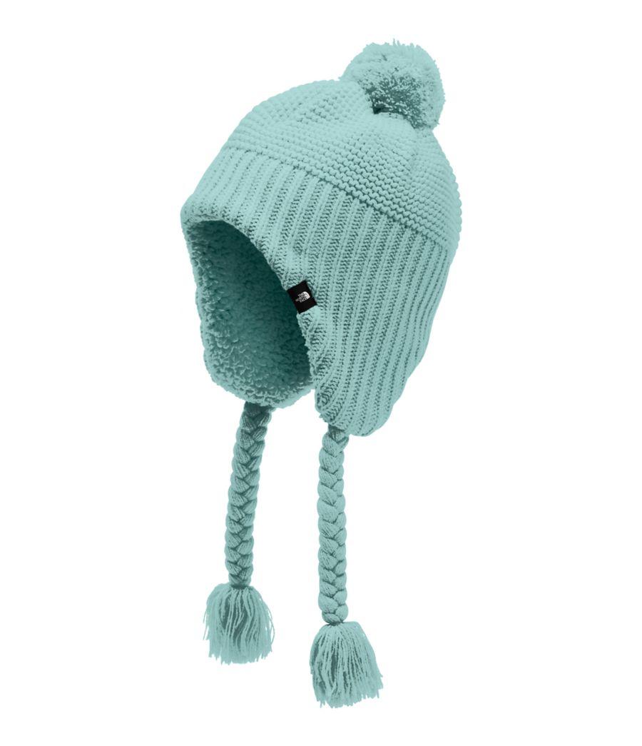Girls' Purrl Stitch Earflap Beanie-