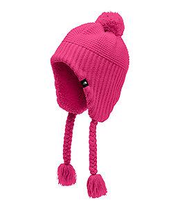 089851192 Girls' Purrl Stitch Earflap Beanie