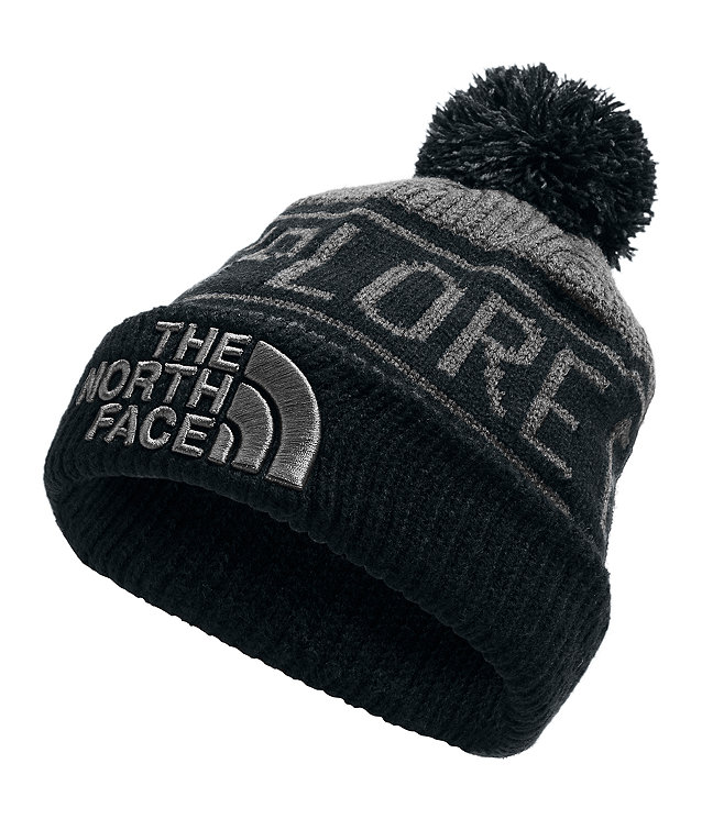 YOUTH RETRO EXPLORE POM BEANIE