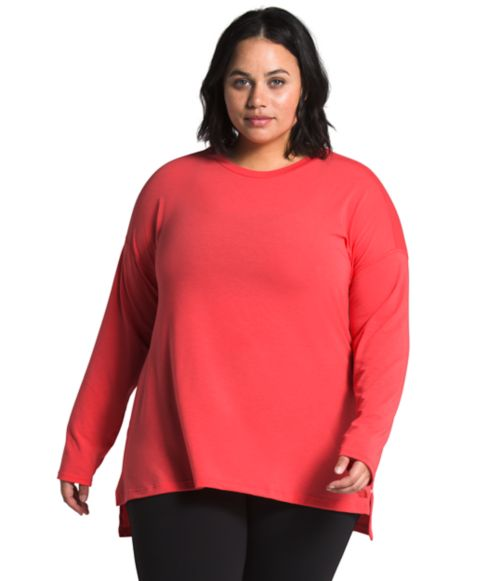Women's Plus Workout Long Sleeve-