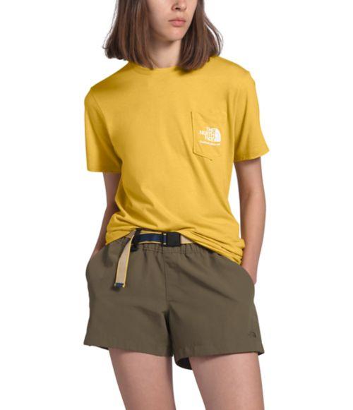 T-shirt à poche trois matières pour femmes-