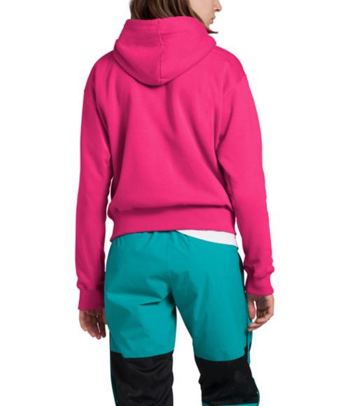 Women's Cropped Box Drop Pullover Hoodie-