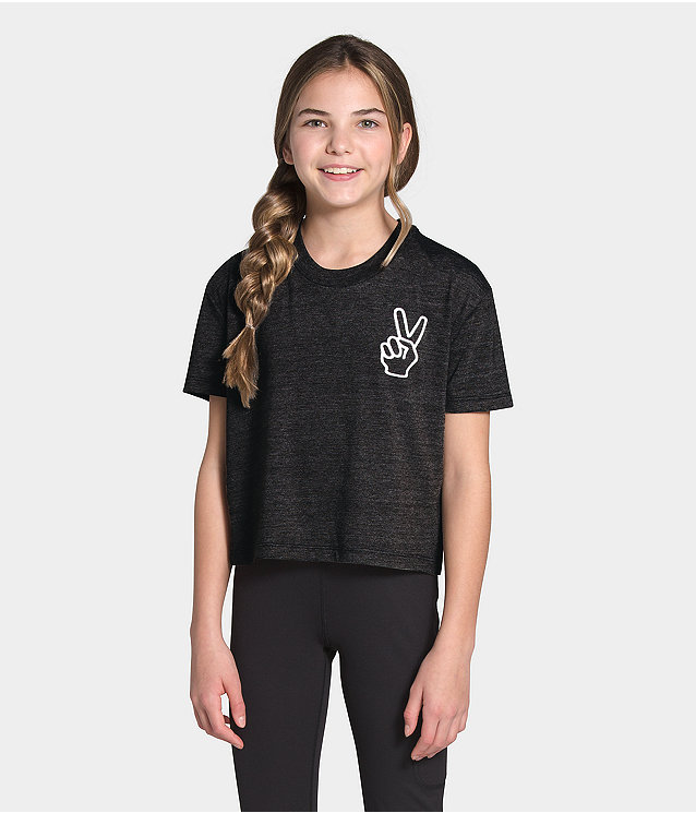 Girls' Short Sleeve Tri-Blend Tee