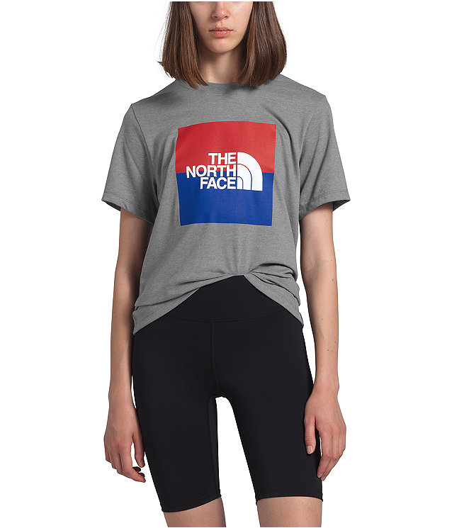Women's Short Sleeve USA Box Tee