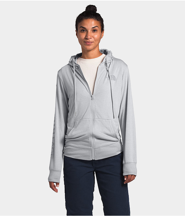 Women's Lightweight Tri-Blend Full Zip Hoodie
