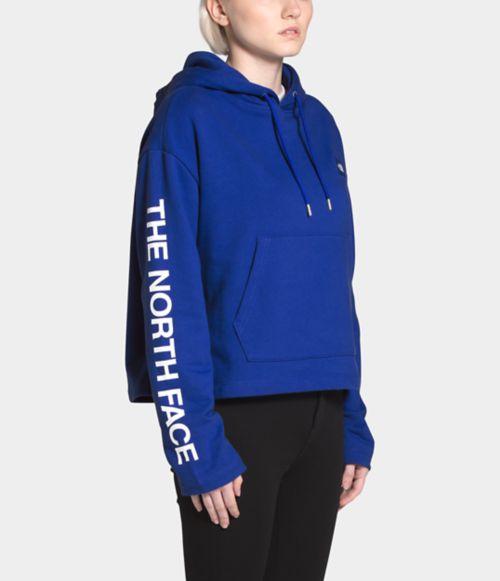 Women's L/S FT Logo Crop Pullover Hoodie-