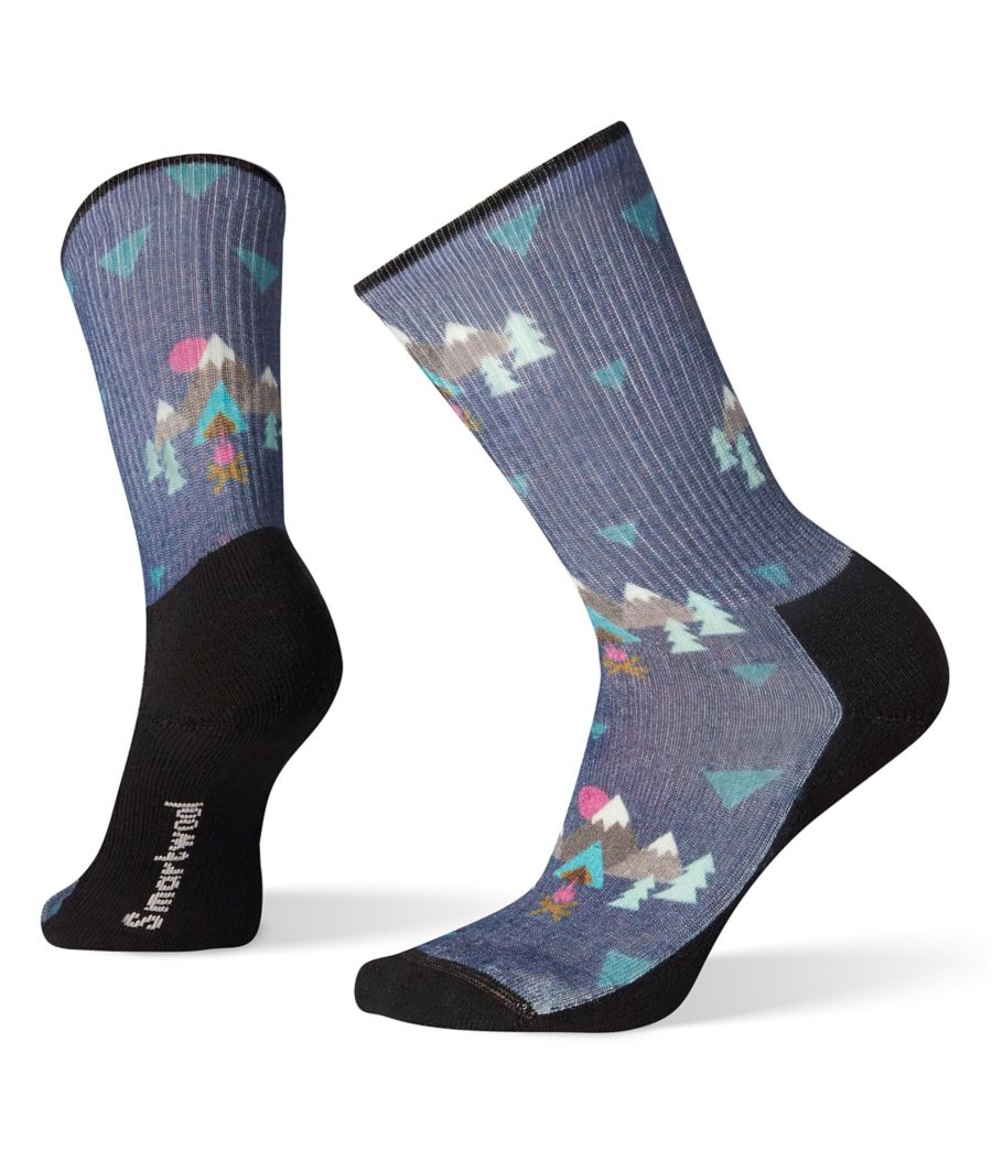 Smartwool Women's Hike Light Under The Stars Print Crew Socks-