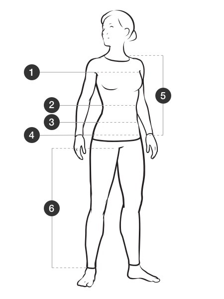 Women's Measurement Diagram Illustration
