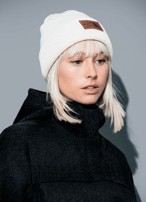The Cali Wool Collection Wool Beanie and Wool Jacket on Model