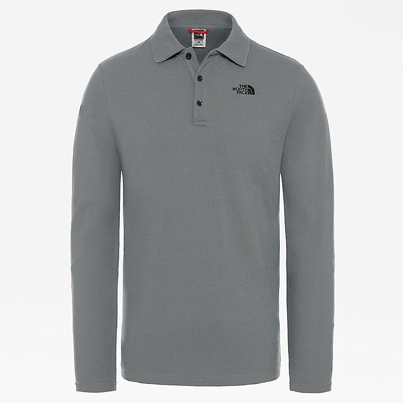 Langärmeliges Poloshirt-