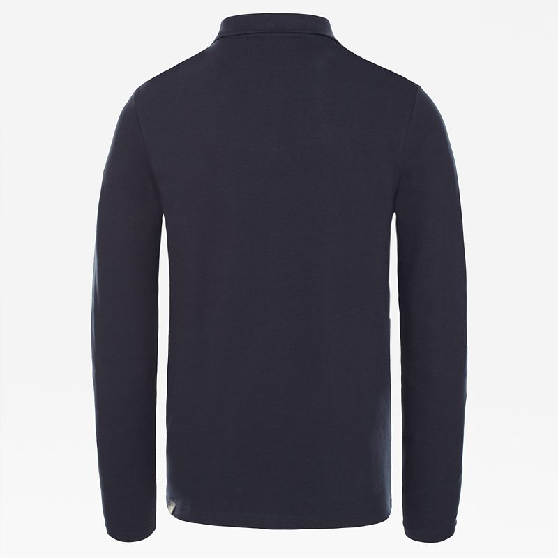 Long-Sleeved Polo Shirt-