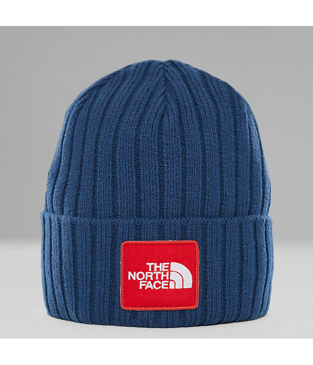 Berretto con risvolto con logo TNF su riquadro | The North Face