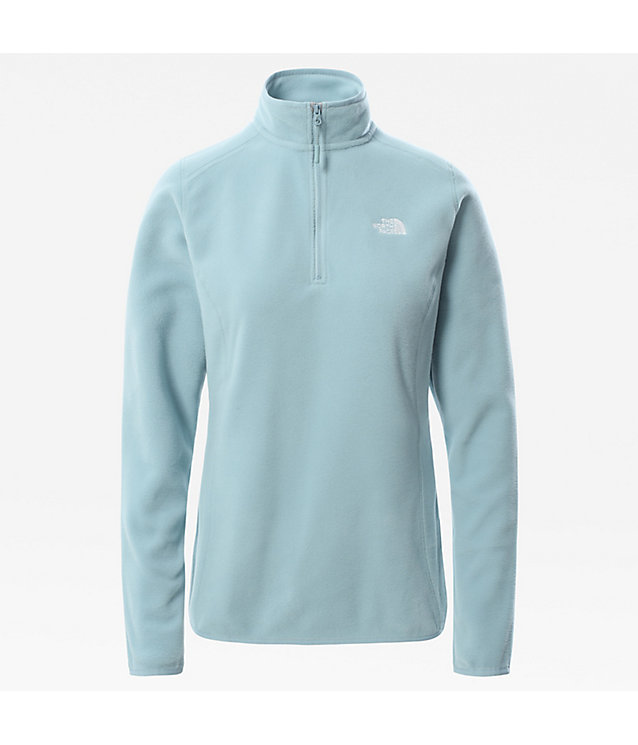Pull-over en polaire 100 Glacier zippé 1/4 pour femme | The North Face