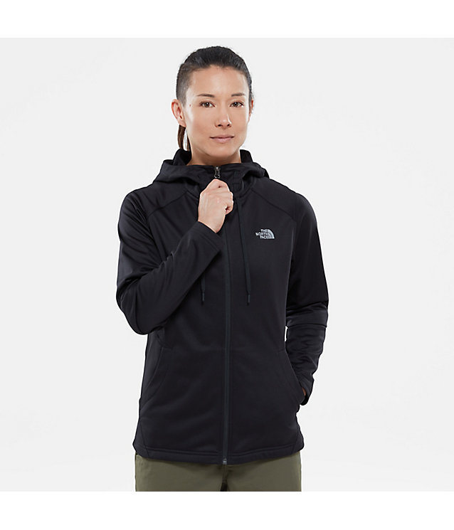 TECH MEZZALUNA-FLEECEJAS MET CAPUCHON VOOR DAMES | The North Face