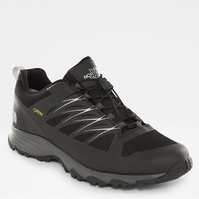 north face running shoes black silver
