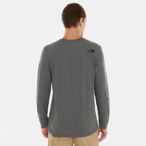 Herren Simple Dome Langarmshirt-