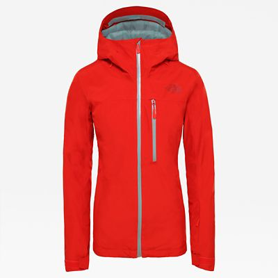 The North Face Womens Descendit Jacket Fiery Red Size L
