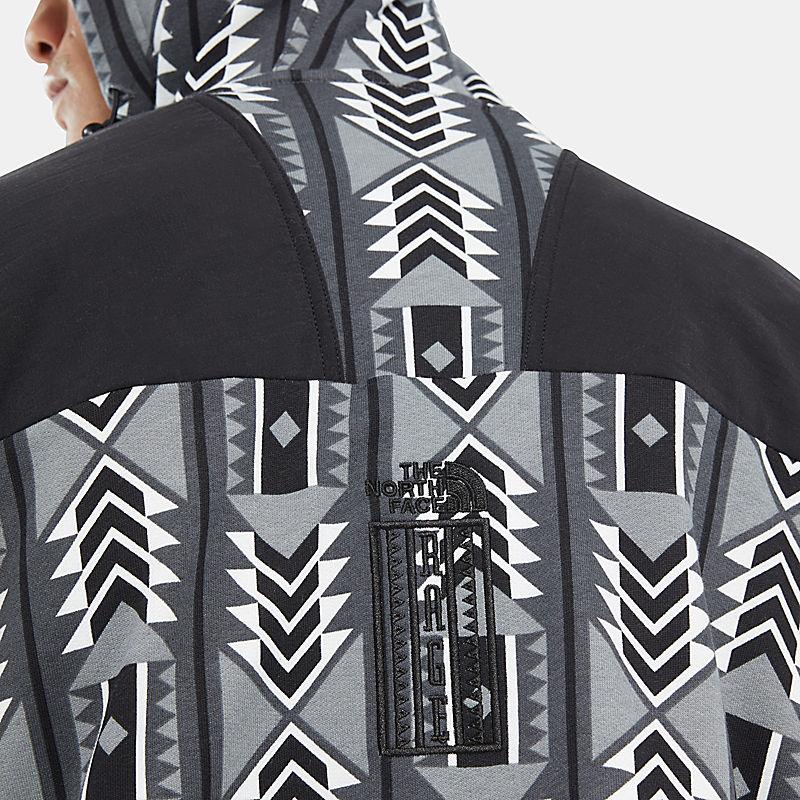 Herren '92 Rage Fleece-Kapuzenjacke mit durchgehendem Reißverschluss-