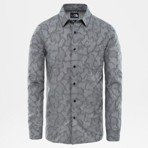 Chemise à manches longues en jacquard Sub-Alpine pour homme-