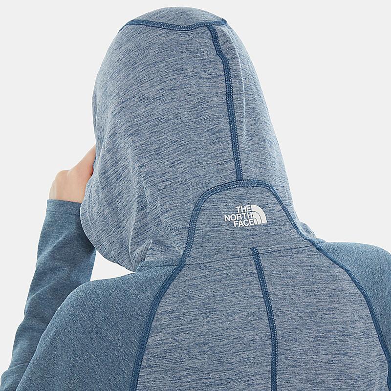 Sudadera con capucha y cremallera integral Invene para mujer-