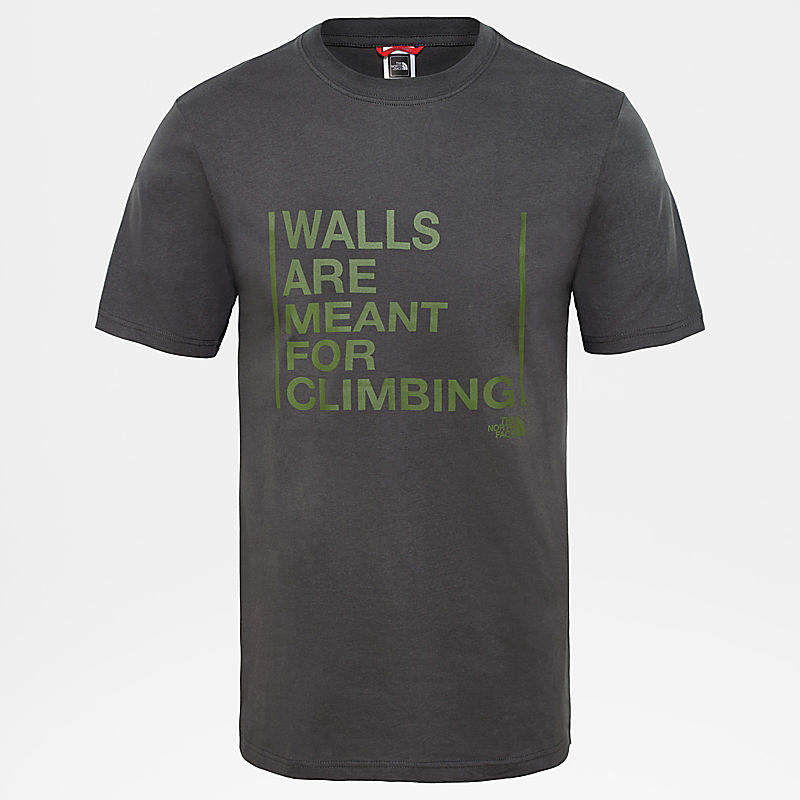 Herren Walls Are For Climbing T-Shirt-