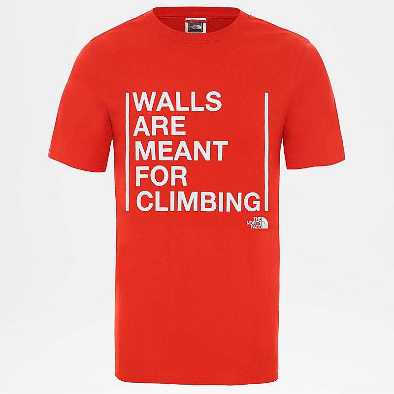 Herren Walls Are For Climbing T-Shirt-